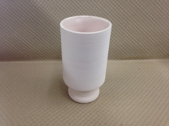 Indented Tumbler Stoneware Bisque (4 Per Case)