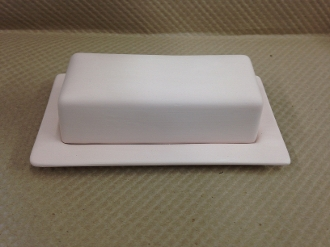 Butter Dish and Lid Stoneware Bisque (4 Per Case)